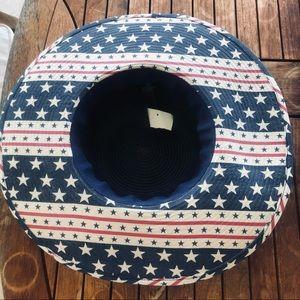 D&Y Sun Hat Red White Blue USA Patriotic